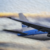 KLM 777-200 landing at dusk painting